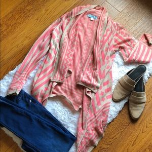 Pink and cream sweater